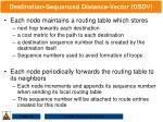 destination sequenced distance vector dsdv