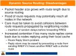 dynamic source routing disadvantages