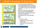 ieee 802 11 terminology ap access point