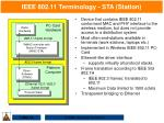 ieee 802 11 terminology sta station