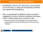 solutions for broadcast storm