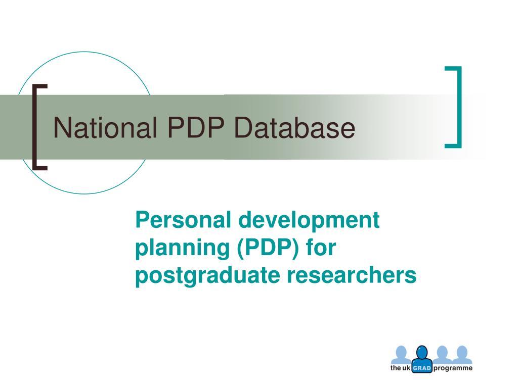 national pdp database l.