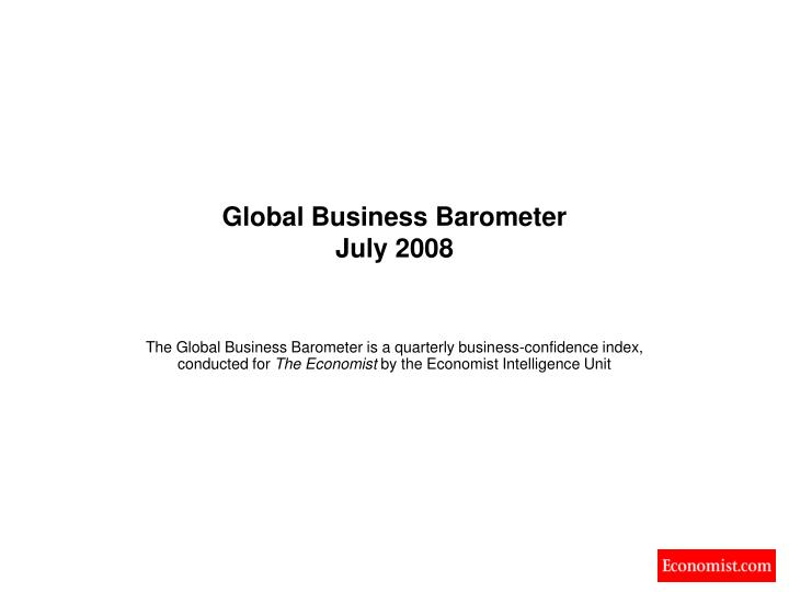 global business barometer july 2008 n.