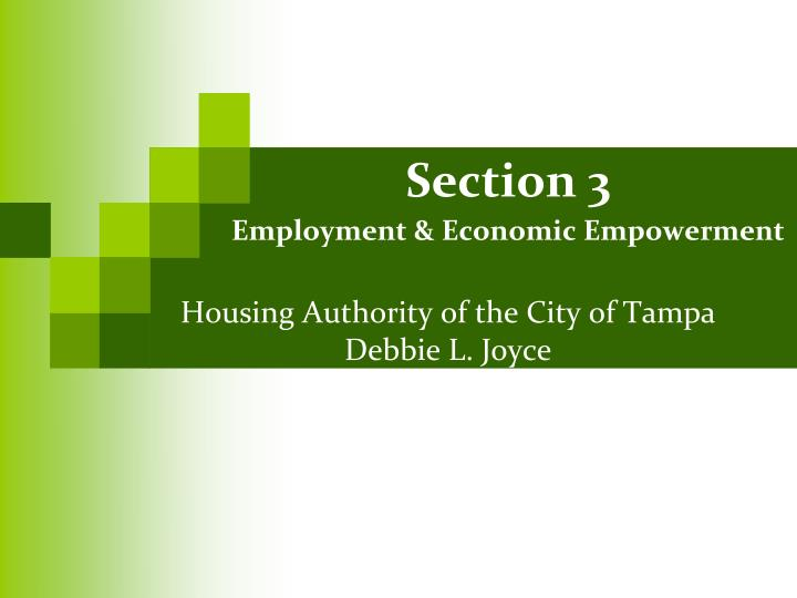 housing authority of the city of tampa debbie l joyce n.