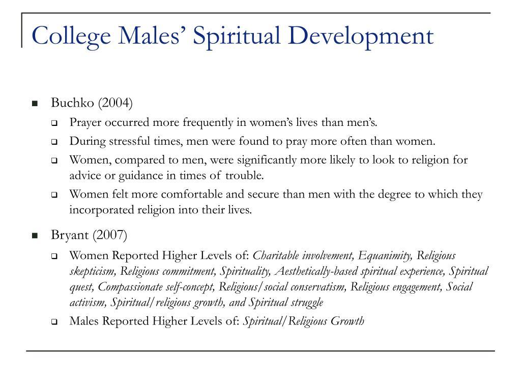 College Males' Spiritual Development