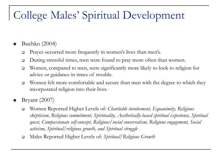College males spiritual development