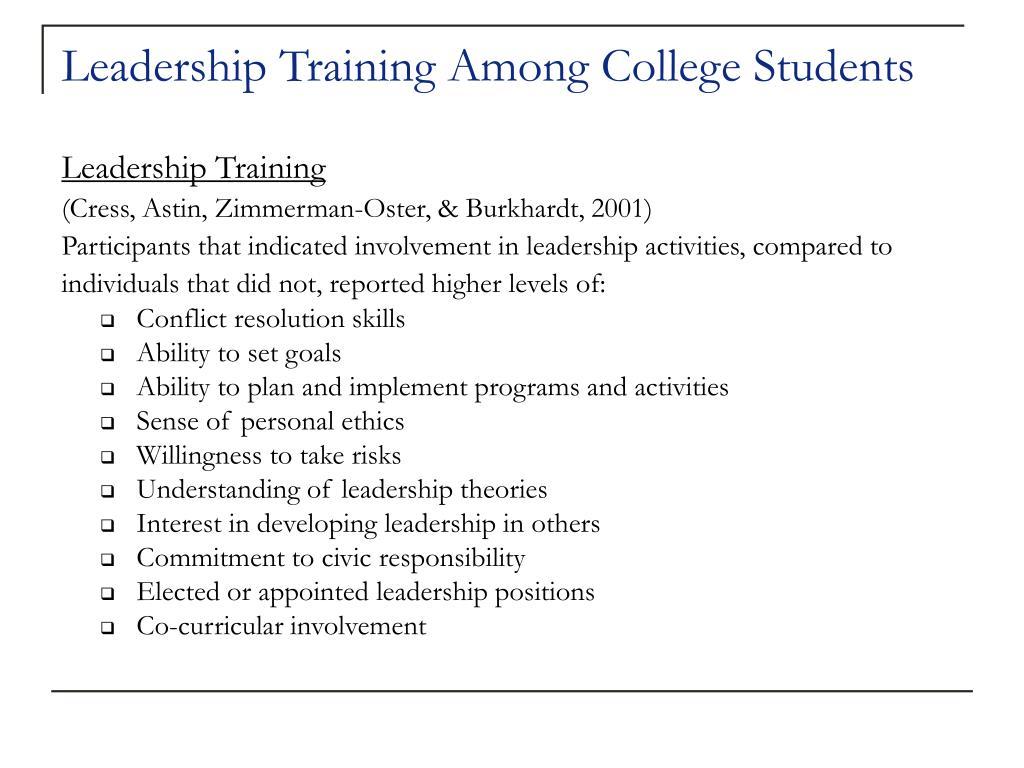 Leadership Training Among College Students