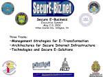 secure e business executive summit may 7 9 2001 hilton crystal city arlington va