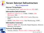 secure internet infrastructure key components