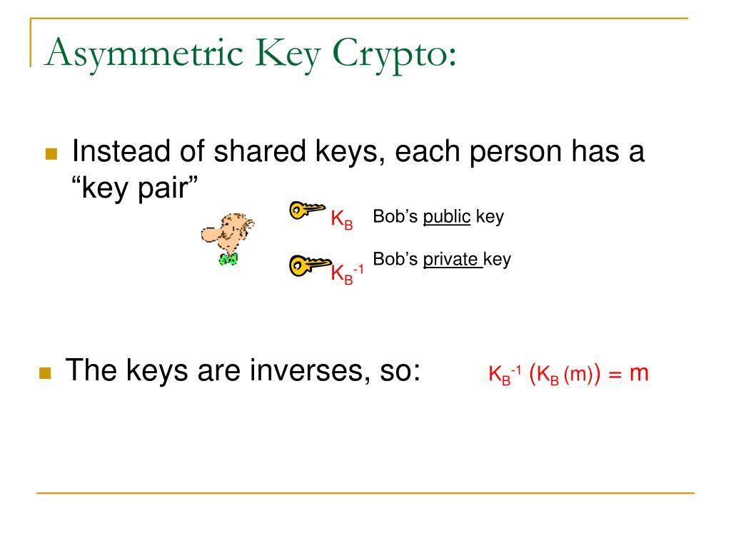 Asymmetric Key Crypto: