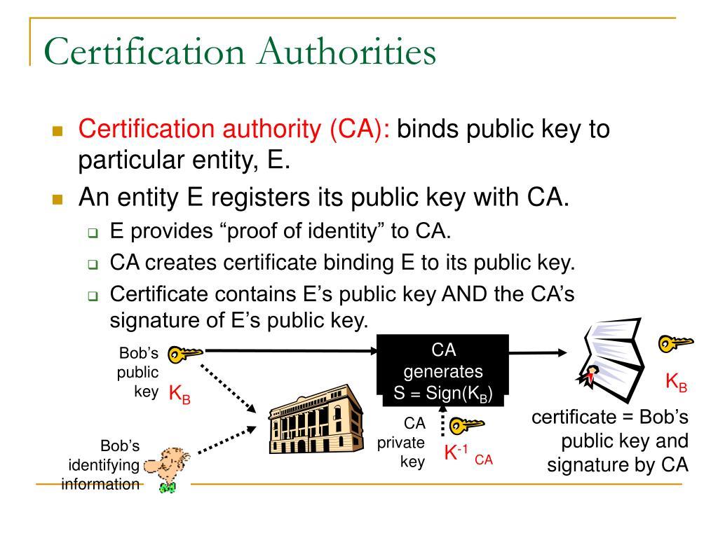 CA generates