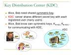 key distribution center kdc