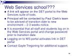 web services school
