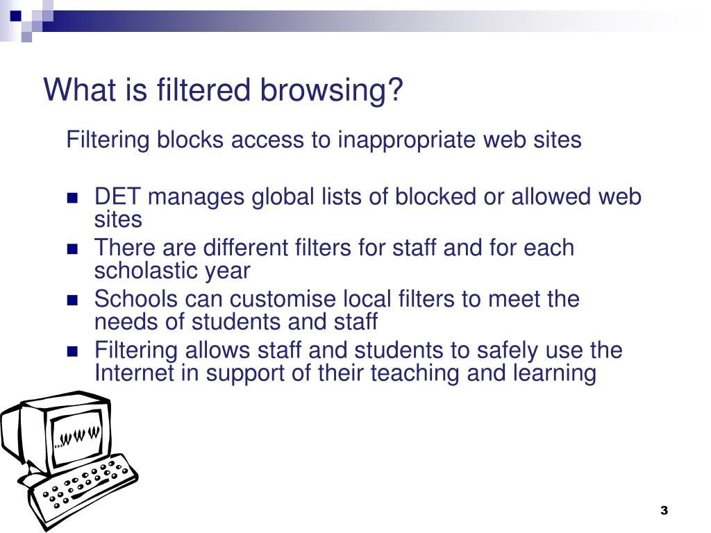 What is filtered browsing?