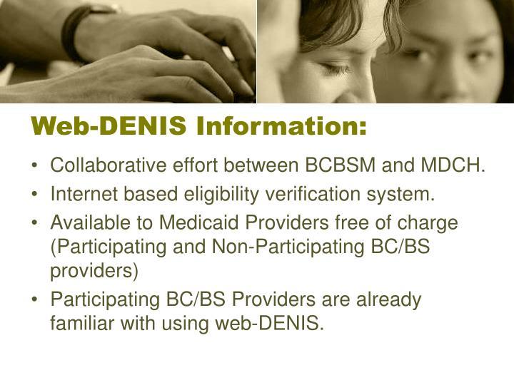 Web denis information