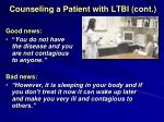 counseling a patient with ltbi cont