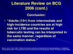 literature review on bcg 2006 cont