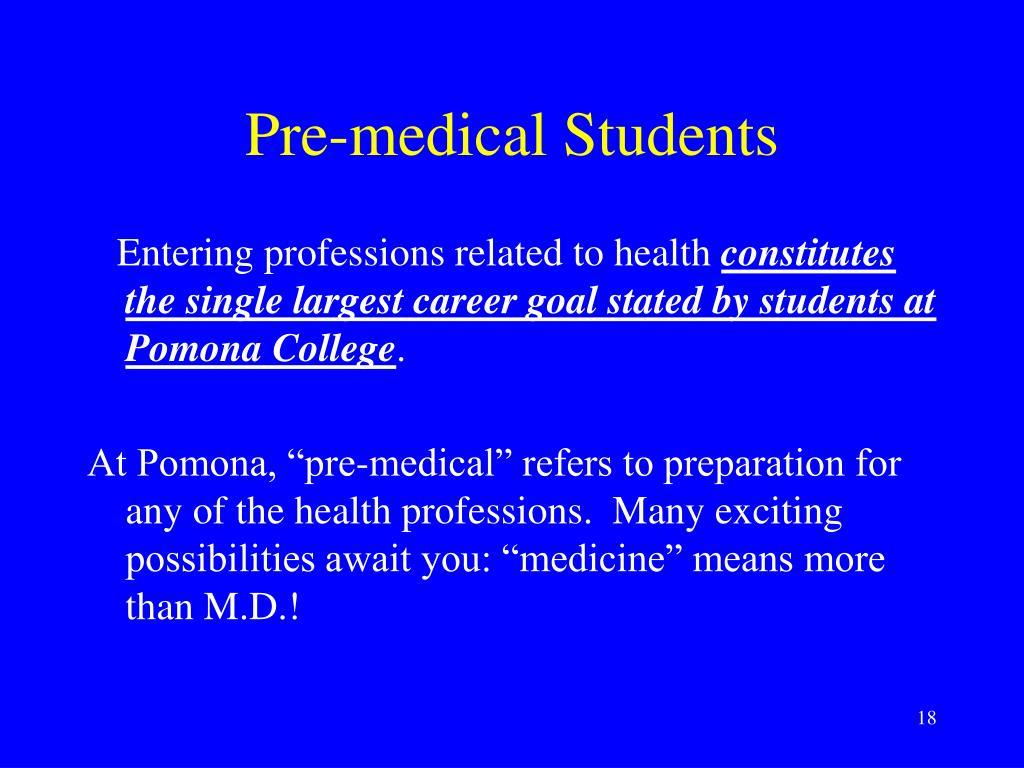 Pre-medical Students