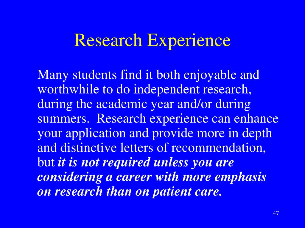 Research Experience