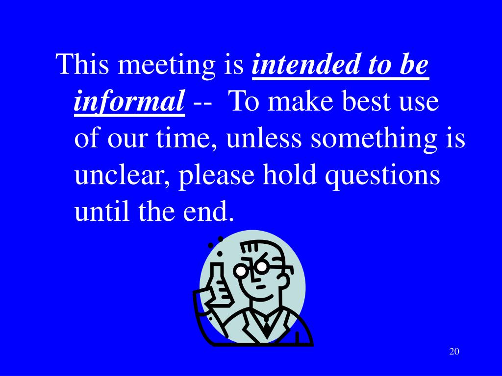 This meeting is