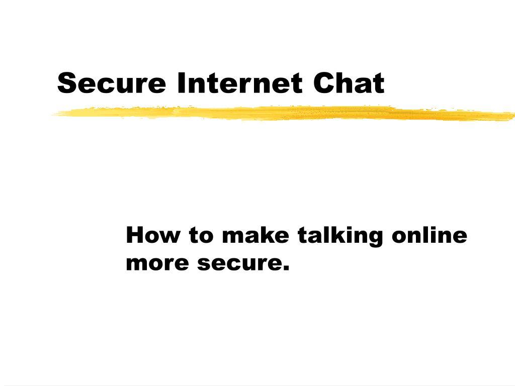 secure internet chat l.