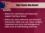 one teach one assist63