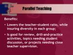 parallel teaching51
