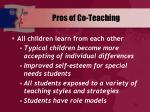 pros of co teaching