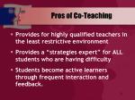 pros of co teaching21