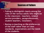 sources of failure