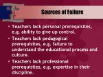 sources of failure68