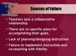 sources of failure69