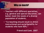why co teach
