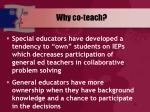 why co teach19