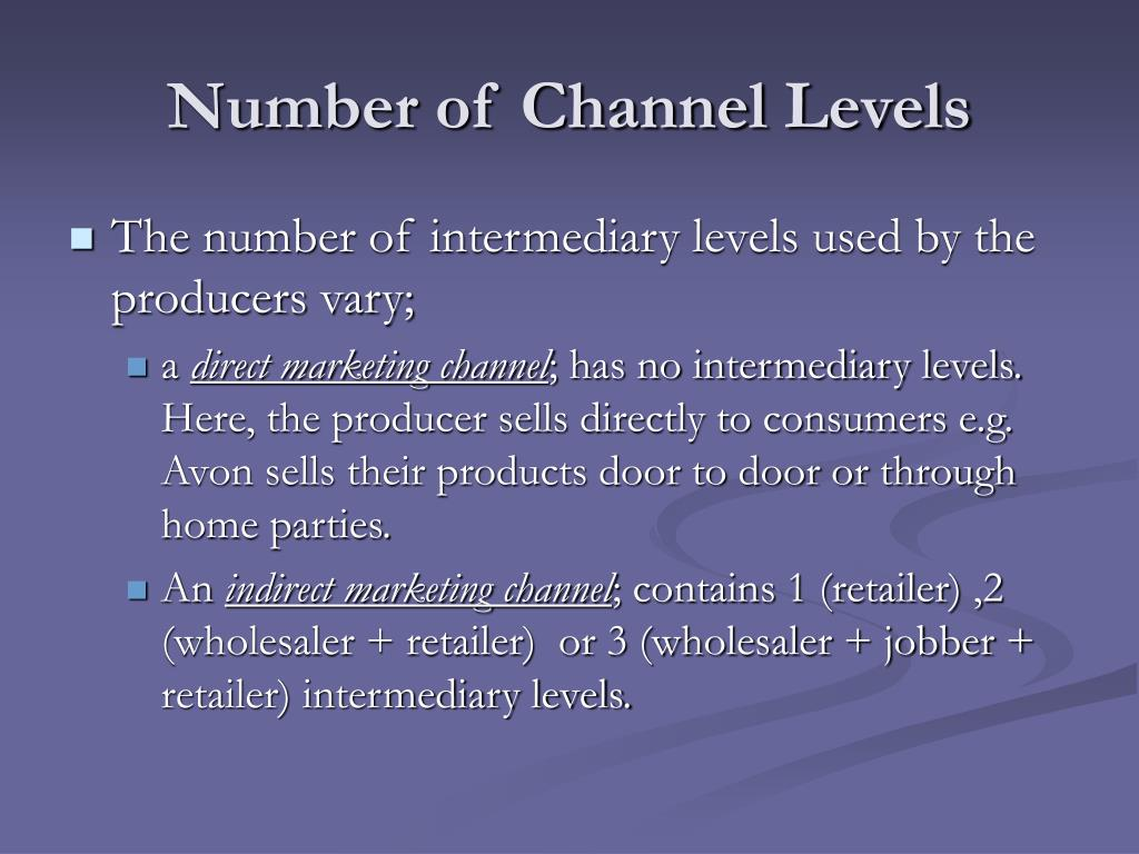 Number of Channel Levels