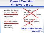 firewall evolution what we found