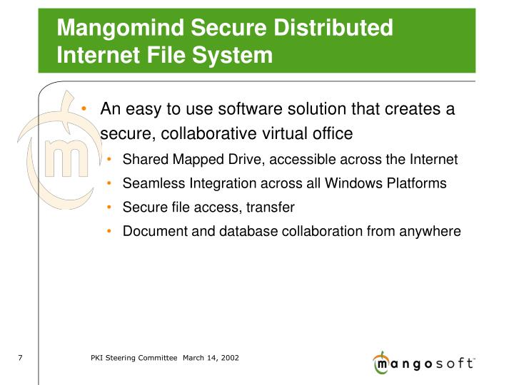 Mangomind Secure Distributed Internet File System