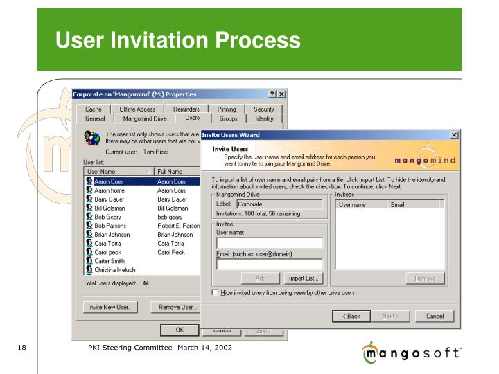 User Invitation Process