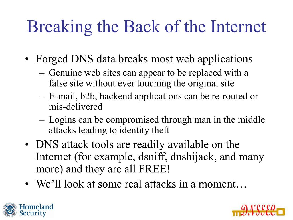 Breaking the Back of the Internet