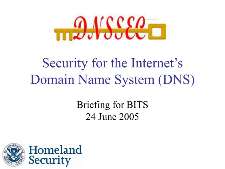Security for the internet s domain name system dns