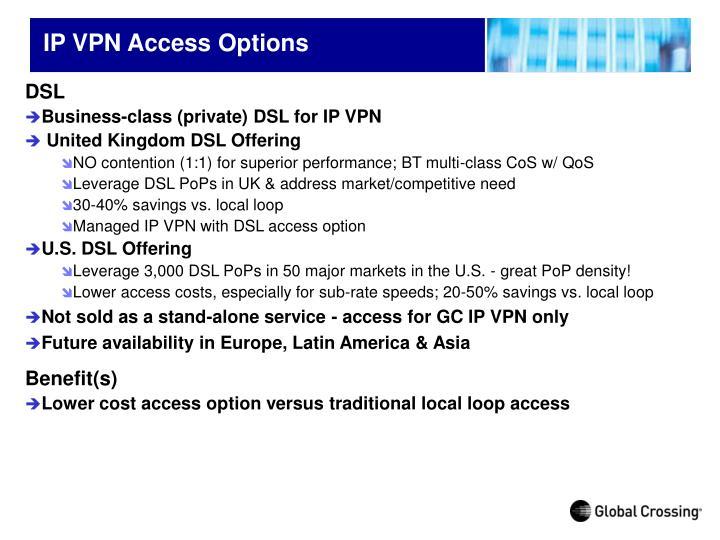 IP VPN Access Options