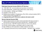 more ip vpn internet access options