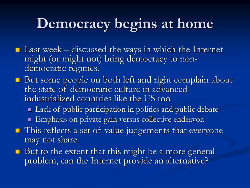 democracy begins at home l.