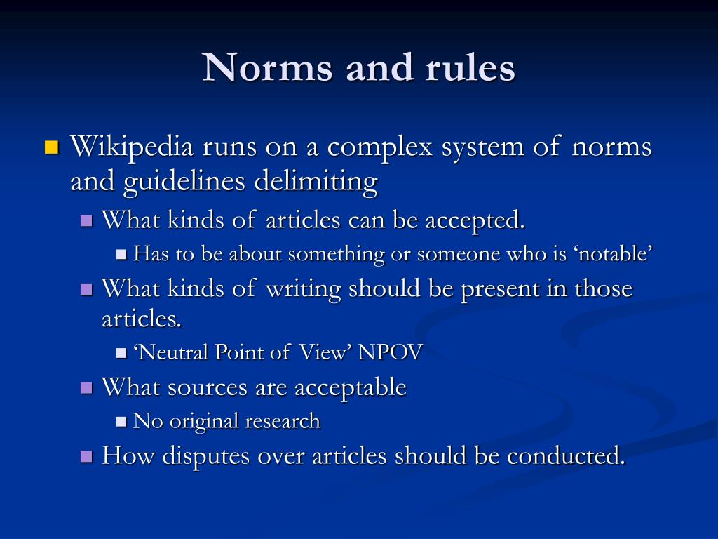 Norms and rules
