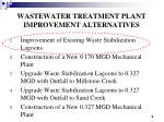 wastewater treatment plant improvement alternatives