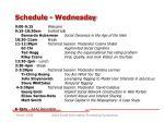 schedule wednesday