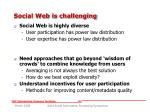 social web is challenging12