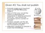 given 3 you shall not publish9