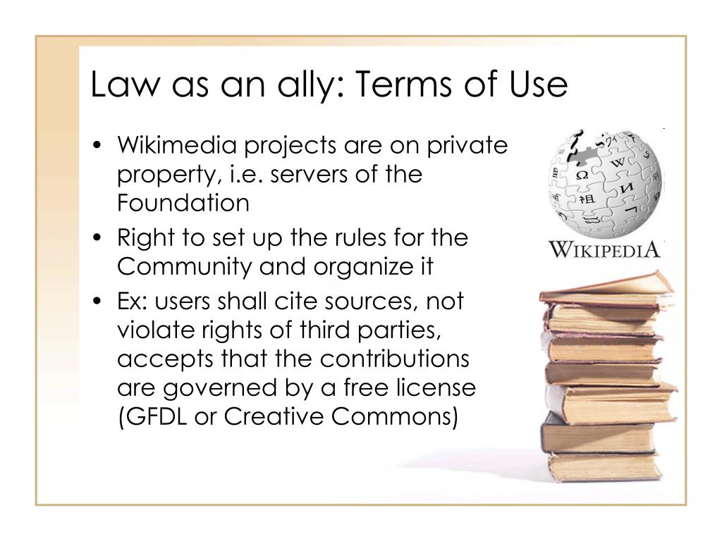Law as an ally: Terms of Use