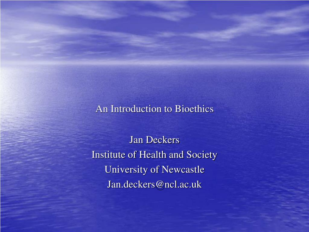 an introduction to bioethics l.